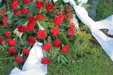 Free Roses On A Grave Stock Photo - 4298540