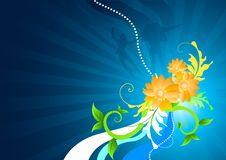 Free Orange Floral Background Royalty Free Stock Image - 4298756