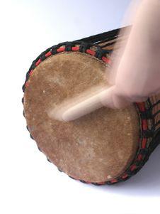 Free Playing Kenkeni Drum Stock Photography - 4298812