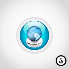 Global Business Button Royalty Free Stock Photos