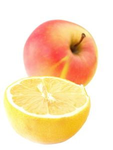 Free Apple And Lemon Royalty Free Stock Image - 4299156