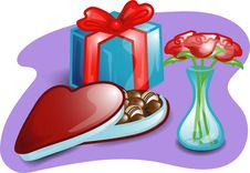 Free Valentine Set Illustration Stock Image - 4299181