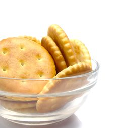 Free Salt Crackers Food In The Vase Stock Photography - 4299712