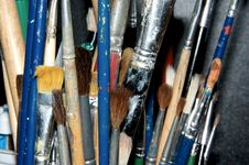 Paintbrushes 1 Stock Photos