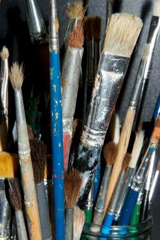 Paintbrushes 2 Stock Images