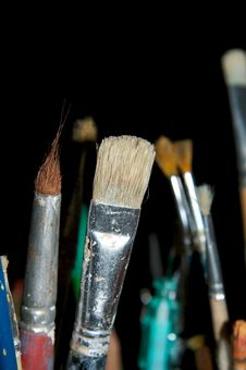Free Paintbrushes 4 Royalty Free Stock Image - 430446