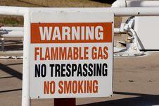 Flamable Gas Warning Stock Image