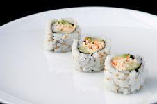 Free Sushi Diagonal White Royalty Free Stock Photography - 432717