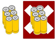 Free Vector - 6 Batteries Royalty Free Stock Photography - 433187