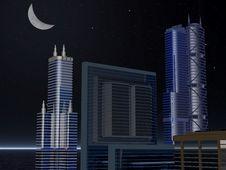 Free Skyline Night Stock Images - 433344