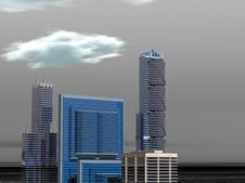 Skyline Day Royalty Free Stock Photo