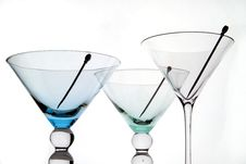 Free Martini Glasses Royalty Free Stock Images - 434699