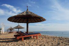 Gazebo At Beautiful Beach Stock Images