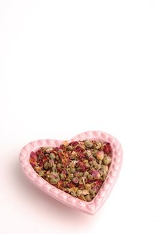 Heart Shaped Dish (02) Stock Photography