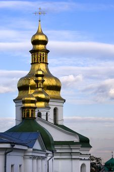 Free Orthodox Golden Domes Stock Photos - 438153