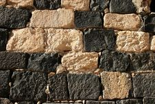 Free Black And White Ancient Wall - Gadara, Jordan, Middle East Royalty Free Stock Photo - 438365
