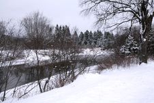 Free Winter River 2 Royalty Free Stock Image - 438556