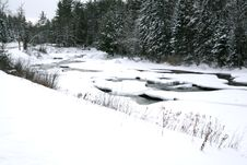Free Frozen River Stock Photography - 438582