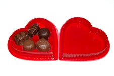 Valentines Chocolates Stock Images