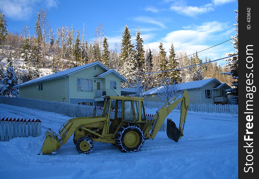 Home snow plowing equipment