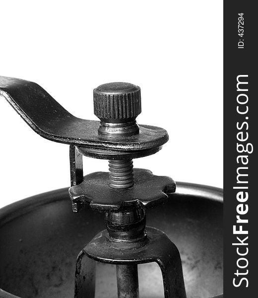 Old coffee grinder detail