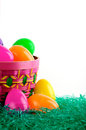Free Easter Egg Basket With Eggs Stock Photography - 4300272