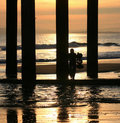 Free Sunset Under The Pier Stock Image - 4305071