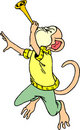 Free Monkey To Play The Trumpet Royalty Free Stock Images - 4305839