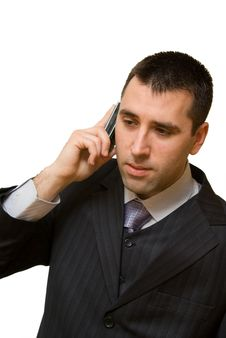 Young Man On Cellphone Having Bad News Royalty Free Stock Photos