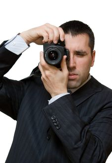 Free Young Photographer Shooting Portraits Royalty Free Stock Images - 4300099