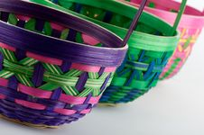 Free Easter Egg Baskets Stock Photography - 4300352