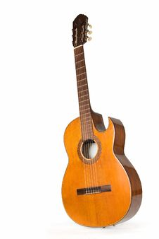 Free Classical Guitar With Cut Body 3 Royalty Free Stock Photography - 4300457