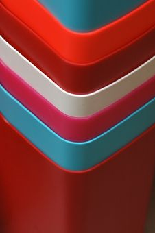 Colorful Bins For Sale Stock Photos