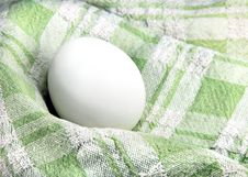 Free Egg In A Dish Towel Royalty Free Stock Photo - 4301015