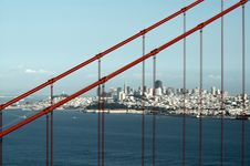 Golden Gate And Downtown San Francisco Stock Photography