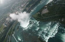 Free Niagara Falls From The Sky Stock Images - 4301564