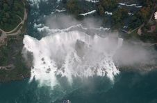 Free Niagara Falls From The Sky Royalty Free Stock Photo - 4301635