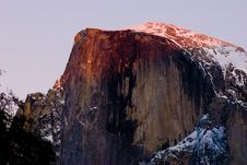 Half Dome During Sunset, Yosemite National Park Royalty Free Stock Image