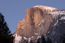 Half Dome During Sunset, Yosemite National Park Stock Images