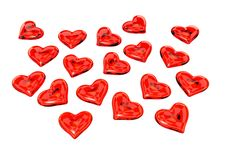 Free Red Glass Hearts Stock Images - 4302134