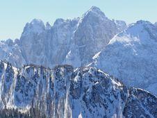 Free Winter Alpine Peaks Royalty Free Stock Image - 4302326