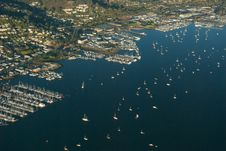 Free Sausalito From A Plane Stock Image - 4302991