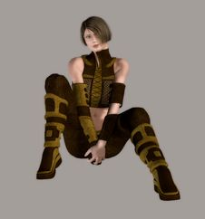Free Sexy Futuristic Warrior Stock Photography - 4303022