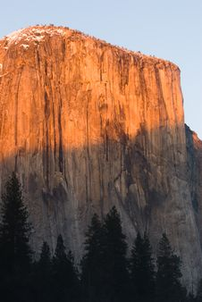 Free El Capitan At Sunset Stock Photos - 4303143