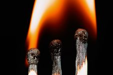 Free Match With Smoke Isolated Stock Image - 4303601