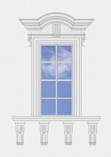 Free Neoclassical Window Royalty Free Stock Images - 4303619