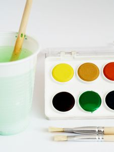 Free Water Colors Set Stock Photography - 4303632