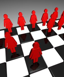 Free Chessboard Men And Woman Royalty Free Stock Image - 4304836