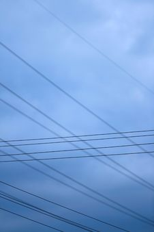 Free Blue Sky With Lead Wires Stock Photos - 4305273