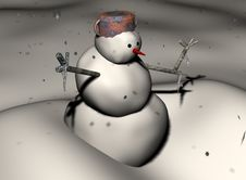 Free The Snowman Stock Photography - 4305292